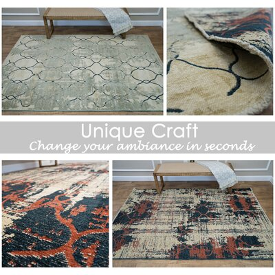 Moreno Valley Reversible Beige Area Rug