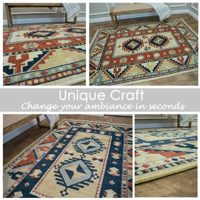 Tudor City Reversible Orange/Blue Area Rug