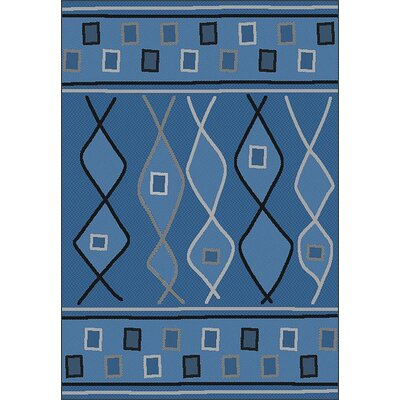 LePage Blue Indoor/Outdoor Area Rug Rug Size: Rectangle 53 x 76