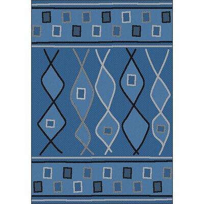 LePage Blue Indoor/Outdoor Area Rug Rug Size: Runner 27 x 79