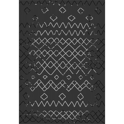 Tubbs Black Indoor/Outdoor Area Rug Rug Size: Rectangle 710 x 10
