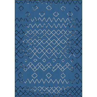 Tubbs Blue Indoor/Outdoor Area Rug Rug Size: Rectangle 53 x 76