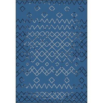 Tubbs Blue Indoor/Outdoor Area Rug Rug Size: Runner 27 x 79