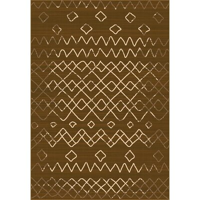 Tubbs Brown Indoor/Outdoor Area Rug Rug Size: Rectangle 53 x 76
