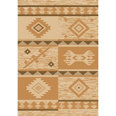 Tubbs Beige/Brown Indoor/Outdoor Area Rug Rug Size: Rectangle 53 x 76