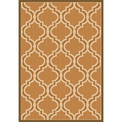 Vinton Beige Indoor/Outdoor Area Rug Rug Size: Rectangle 53 x 76