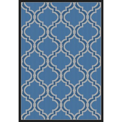 Vinton Blue Indoor/Outdoor Area Rug Rug Size: Rectangle 53 x 76