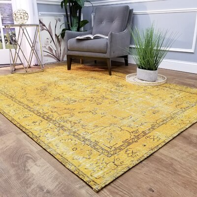 Wooldridge Dandelion Oriental Yellow Area Rug Rug Size: Rectangle 27 x 411