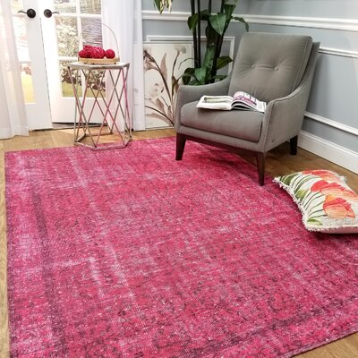 Wooldridge Victorias Magenta Area Rug Rug Size: Rectangle 27 x 411