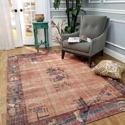 Wooldridge Florence Village Brown Area Rug Rug Size: Rectangle 53 x 77