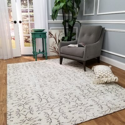 Wooldridge Karinca Ivory Area Rug Rug Size: Rectangle 53 x 77