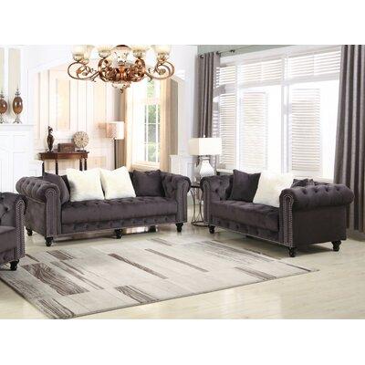 Leyton Upholstered 2 Piece Living Room Set