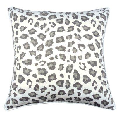 Leopard Throw Pillow Color: Pebble Gray