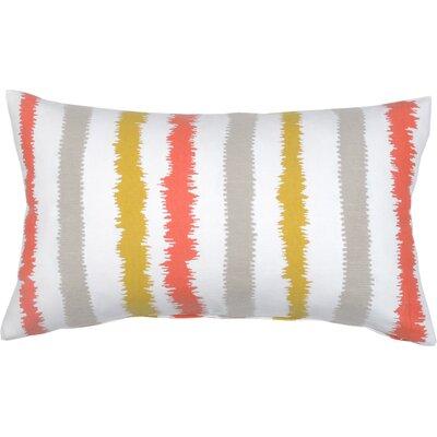 Stitch Stripe Cotton Lumbar Pillow Color: Citron