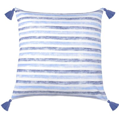 Painterly Stripe Throw Pillow Color: Cobalt