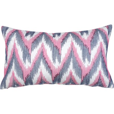 Flame Ikat Cotton Lumbar Pillow