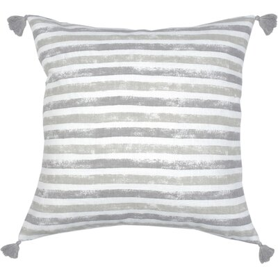 Painterly Stripe Throw Pillow Color: Pebble Gray