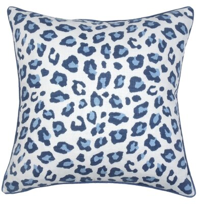 Leopard Throw Pillow Color: Cobalt
