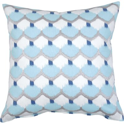 Dot Ikat Cotton Throw Pillow Color: Aqua