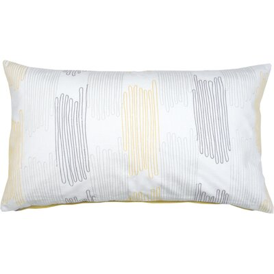 Scribble Check Cotton Lumbar Pillow