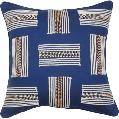 Clearwater Stripe Cotton Throw Pillow Color: Cobalt