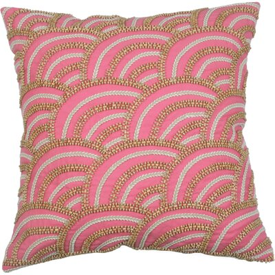 Scallop Cotton Throw Pillow Color: Hibiscus