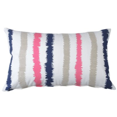 Stitch Stripe Cotton Lumbar Pillow Color: Cobalt