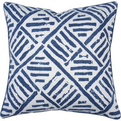 Trellis Throw Pillow Color: Cobalt