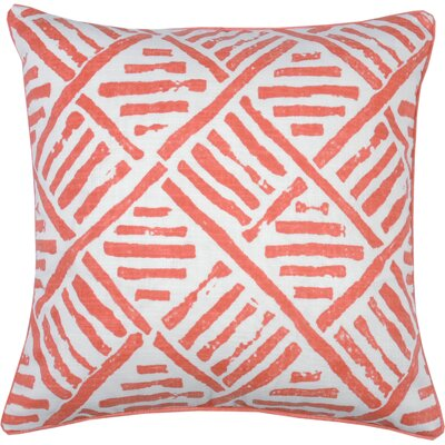Trellis Throw Pillow Color: Papaya