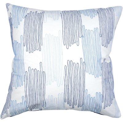 Scribble Check Cotton Throw Pillow Color: Cobalt