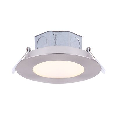 LED Recessed Housing Color Temperature: 3000K, Finish: Brushed Nickel