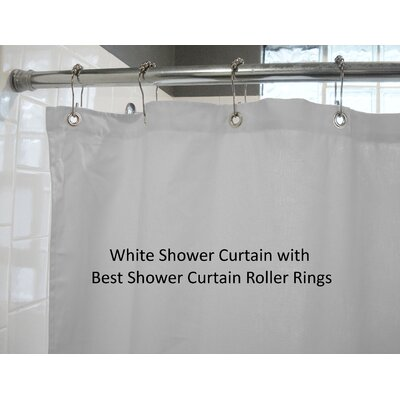 Landaverde Shower Curtain Color: White with Rings