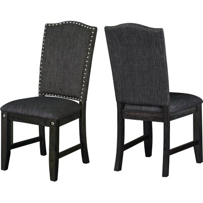 Dyer Avenue Upholstered Dining Chairs Upholstery Color: Dark Gray