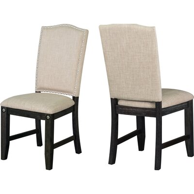 Dyer Avenue Upholstered Dining Chairs Upholstery Color: Khaki