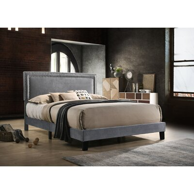 Mccants Upholstered Panel Bed Color: Gray, Size: Full