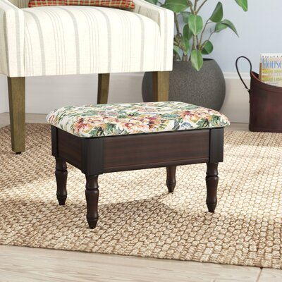 Cleo Queen Anne Style Ottoman Upholstery: Cherry