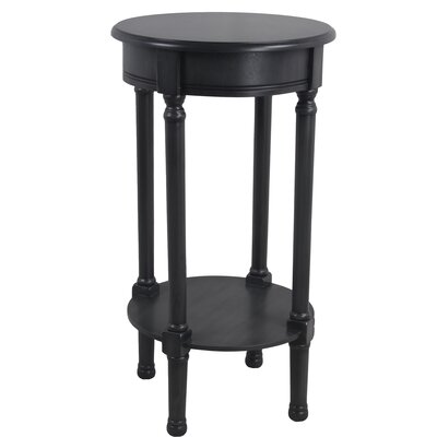 Keisler Round End Table Color: Black