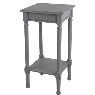 Keister Square End Table Color: Gray