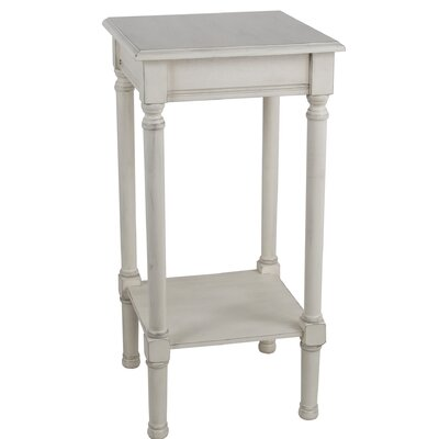 Keister Square End Table Color: Off White