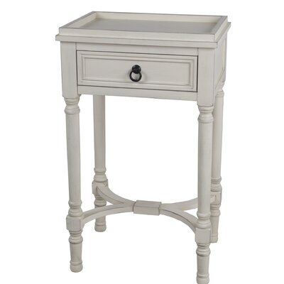 Mcdougald End Table with Storage Color: Off White