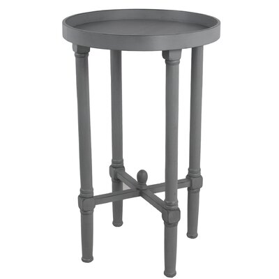 Mckelvey Round Tray Table Color: Gray