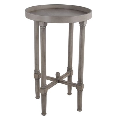 Mckelvey Round Tray Table Color: Light Brown