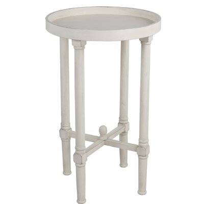 Mckelvey Round Tray Table Color: Off White