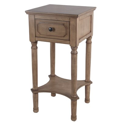 Mckinney End Table with Storage Color: Brown