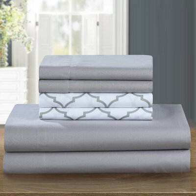 Nailwell 4 Piece Sheet Set Color: Gray