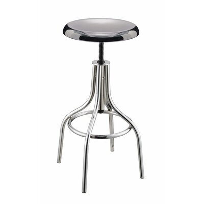 Hunsicker Sleek Backless Metal Adjustable Height Swivel Bar Stool