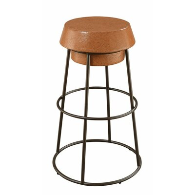 Marion Stylish Wood and Metal Wine Cork 30 Bar Stool