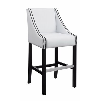 Lemley Upholstered 31 Bar Stool Color: White