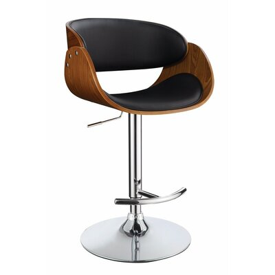 Hunsinger Adjustable Height Swivel Bar Stool Color: Black