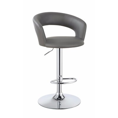 Wuest One Piece Adjustable Height Swivel Bar Stool
